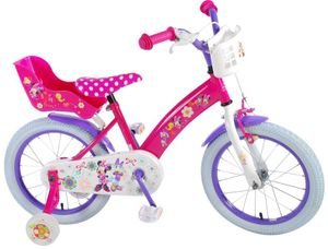 16 Zoll Kinderfahrrad Mädchenfahrrad Kinder Mädchen Fahrrad Kinderrad Mädchenrad Minnie Mouse Maus Bow Tique Roze VOLARE 31626 CH-IT