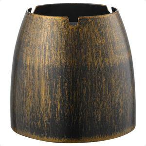 XL Windaschenbecher Bronze Edelstahl Aschenbecher für Draußen & Innen Groß Metall Tisch Ascher