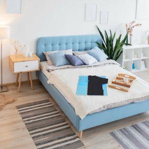 relaxdays 1 x Wäschefalter Wäschefalthilfe Wäsche Falten Faltbrett Kleidung 68 x 57 blau