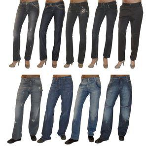 MET Design Damen Stretch Jeans Jeanshose Chino Baggy Hose gerades Bein used Look, Modell:Avietor, Hosengröße:W30
