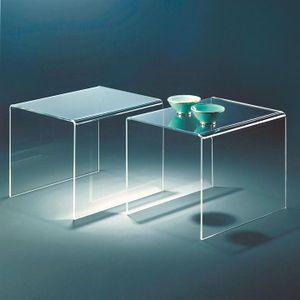Kare Design: Acryl-Beistelltisch, 2er-Set je H 40 x B 50 x T 38 cm (02367)