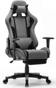 IntimaTe WM Heart Gaming Stuhl Racing Gamer Stuhl Bürostuhl Stoff Ergonomischer Computerstuhl mit Fußstütze Drehstuhl mit Hoher Rückenlehne