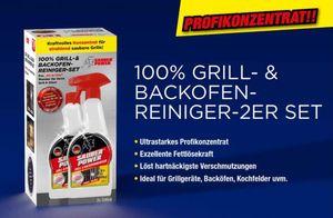 100% Grillreiniger + Backofenreiniger Powerreiniger - 2er Set (je 500 ml) - ultrastarkes Profikonzentrat - löst hartnäckigste Verschmutzungen