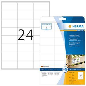 Etiketten A4 weiß 70x36 mm extrem stark haftend Papier matt 600 St.