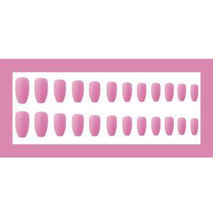 24-teilige Ballerina Pure Color Matte Sargn?gel Vollst?ndige Abdeckung Mittel Falsches Gel Frosted Press On Nails Kš¹nstliche N?gel Art Tips Sets