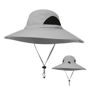 Outdoor Hut breiter Krempe atmungsaktiv Jagd Angeln Safari Sonnenhut Cap