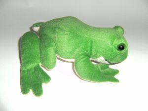 Stofftier Laubfrosch 20 cm, grün, Kuscheltier Plüschtier Frosch Frösche