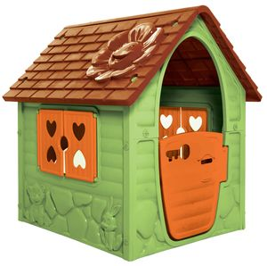 Dohany Spielhaus grün Kinderspielhaus Gartenhaus Indoor Outdoor +2J