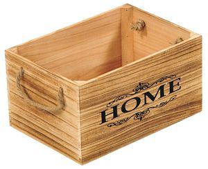 Kesper Aufbewahrungsbox aus Paulowniaholz mit 2 Griffschlaufen, Maße 30 x 20 x 16 cm