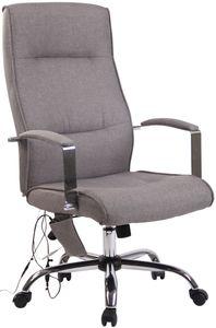 CLP Bürostuhl Portland mit Massagefunktion höhenverstellbar mit Kunstlederbezug Oder Stoffbezug, Farbe:grau, Material:Stoff