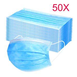 Einweg-Masken 50 masken kurz Mundschutz Maske Gesichtsmaske masken infektionsschutz masken einwegmasken mundschutz Stück Anti-Staub Maske