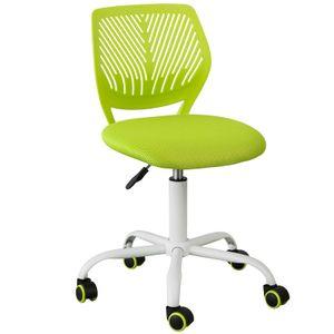 SoBuy FST64-GR Schreibtischstuhl Drehstuhl Bürostuhl Jugenddrehstuhl mit Rücklehne Arbeitsstuhl höhenverstellbar Grün Sitzhöhe: 46-58cm