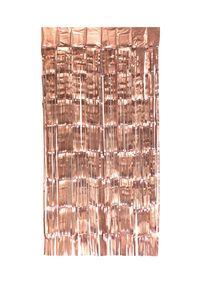 Lametta Vorhang 50x100cm, Farbauswahl:rosegold / matt