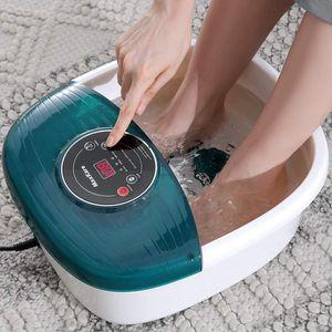 Fußbad Massagegerät, Fussbadewanne Fußsprudelbad mit Heizung Vibrations- und Sprudelmassage, Elektrisches Fussbad, Wassertemperierung, 16 Abnehmbaren Massagerollen, zur Entspannung für Strapazierte
