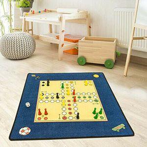 Kinderteppich - Mensch ärgere dich nicht - Spielteppich Kinderzimmer