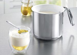 Milchtopf  Edelstahl  Keramik  ø 14 cm  1,8 L  Induktion  Topf Kochtopf