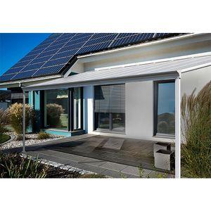 HOME DELUXE - Terrassenüberdachung 312 x 303 x 226 / 278 cm Weiß Terrassendach Überdachung Carport