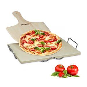 relaxdays Pizzastein Set 1,5 cm
