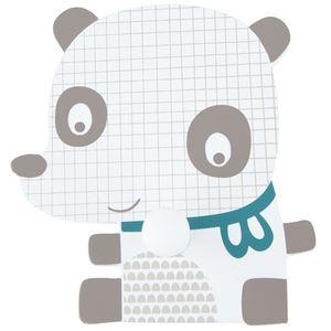 Bieco Garderobe Kinder Panda | Kindergarderobe Holz | Garderobenhaken Kinder | Wandgarderobe Holz | Kleiderhaken Kinder | Garderobenleiste Kinder 12 cm | 1 Garderoben Haken | Garderobe Holz Wandhaken