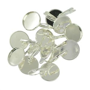 12 x Ohrhaken Farbe Silber