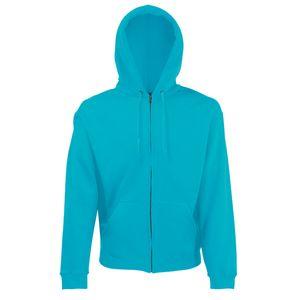 Fruit of the Loom Classic Hooded Sweat Jacket, Farbe:azurblau, Größe:XL