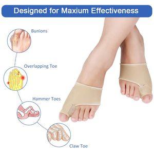 Zehenspreizer Groß zehen Korrektur Socken Bunion Sleeve Corrector Ballenschutz Größe L (Khaki)