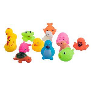 13pcs Badespielzeug Kunststoff Tiere