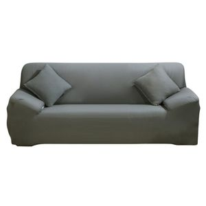 Sofa Überwürfe Sofabezug Stretch elastische Sofahusse Sofa Abdeckung in Verschiedene Größe und Farbe Herstellergröße195-230cm (Grau, 3 Sitzer für Sofalänge 170-220cm)