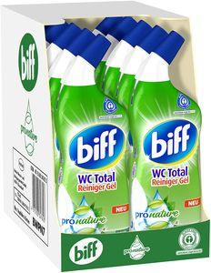 Biff WC Total Reiniger Gel Pro Nature Minze Eukalyptus Duft WC-Reiniger 10x750ml