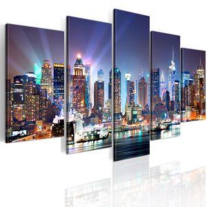 Modernes Wandbild 9020099 (200x100) - 5 Teilig Bilder Fotografie auf Vlies Leinwand Foto Bild Dekoration Wand Bilder Kunstdruck NEW YORK