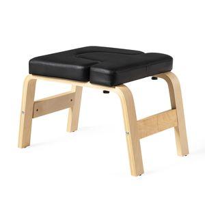 COSTWAY Yoga Kopfstandhocker, Kopfstand Yogastuhl Holz, Yoga Hocker für Zuhause und Fitnessstudio
