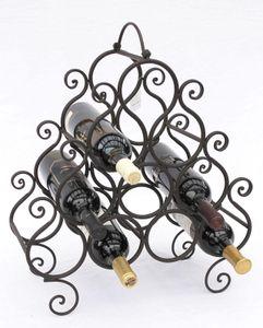 DanDiBo Weinregal JC130060 aus Metall für 10 Flaschen Flaschenhalter 52 cm Flaschenregal