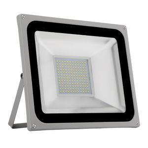 100W LED Strahler 8000LM Außenleuchte LED Fluter Außenstrahler Flutlicht IP65 Flutlichtstrahler Scheinwerfer Kaltweiß Licht für Garten, Garage, Sportplatz, Hotel, 1 Stück