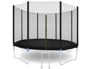 Gartentrampolin  Outdoor Trampolin mit Sicherheitsnetz und Leiter bis 150 kg Komplettset inkl.Außennetz 180/305/366cm 2215 , Größe:305-312cm