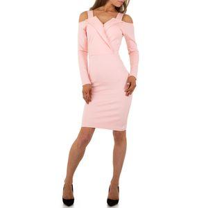 Ital-Design Damen Kleider Cocktail- & Partykleider Rosa Gr.xl