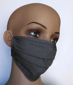 Gesichtsmaske aus Baumwolle grau
