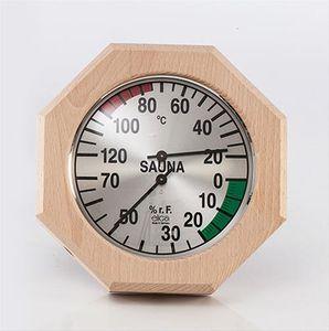 Eliga Klimamesser für Sauna Ø170mm mit 8-eckigem Holzrahmen