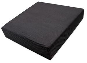 Orthopädisches Sitzkissen, 40x40x8 cm, Polyurethan-Formschaum, schwarz