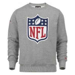 New Era Team Logo Crew Pullover Men - NFL LOGO - Heather Grey, Größe:L