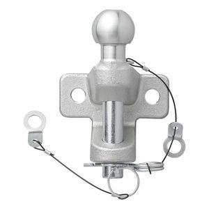 Anhängerkupplungskugel silber zweifach Ausführung Maulkupplung Trecker Kugelkopf