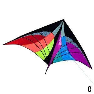 Farbe Kite (C) $ Kite Spinne klassischen Dreieck Drachen einzelne Linie Drachen mit einer Reihe von großformatiger Platten Schweif Drachen