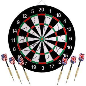 Hochwertige Blade 5 Bristle Dartboard Dart Dartscheibe mit 6 Dartspfeil für Steeldarts Dart