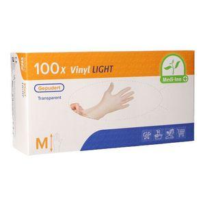 100 Medi-Inn Medi-Inn® PS Handschuhe, Vinyl gepudert Light Größe M 93401 Einweghandschuhe Hygiene Vinylhandschuhe
