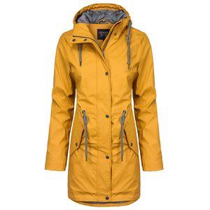 ODYSSEE Damen Regenmantel , Farbe:gelb, Größe:L