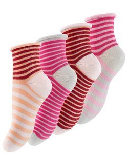 Cotton Prime® Kinder Söckchen 8 Paar, mit Rollgummi Bunt 31-34