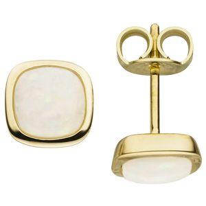 Ohrstecker 585 Gold Gelbgold 2 Opale Opal-Ohrringe