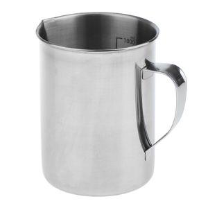 Edelstahl Küchenlabor Griff Wasser Flüssigkeit Messbecher Becher 1000ml Größe 1000ml