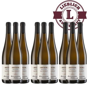 Weißwein Rheinhessen Gewürztraminer Weingut Becker Auslese lieblich ( 9 x 0,75 l)