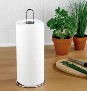 WENKO 2310100 Küchenrollenhalter, verchromtes Metall, 12 x 32 x 12 cm, Silber glänzend