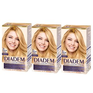 3x Schwarzkopf Diadem Seiden-Color-Creme, 704 Sahara-Blond